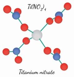 Titanium nitrate TiN4O12 molecule vector