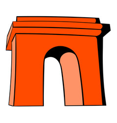 Triumphal arch paris icon cartoon vector