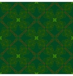 Victorian dark green vintage pattern vector