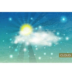 Vintage Sky background with Clouds vector