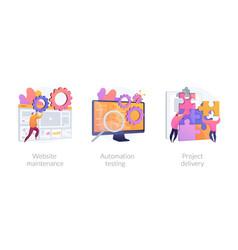website development concept metaphors vector image