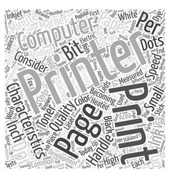 What Computer Printer Characteristics Should Be vector