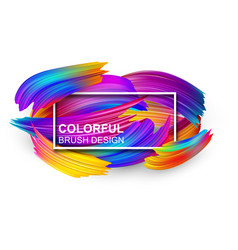 White background with colorful abstract brush vector