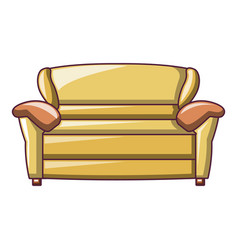 yellow sofa icon cartoon style vector image