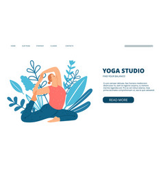yoga studio web page vector image