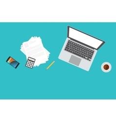 Businessman or freelance workspace vector image