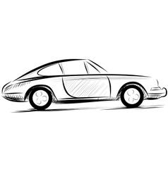 Car racing auto logo line art vector image