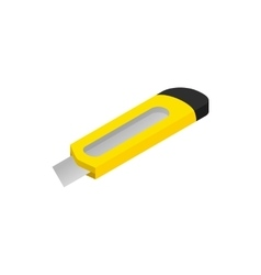 Construction utility knife icon isometric 3d style vector image vector image