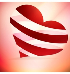 Heart And Valentins Day Card vector image vector image