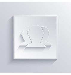 light square icon Eps 10 vector image