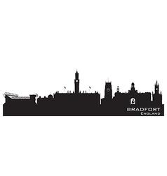 Bradfort England skyline Detailed silhouette vector image vector image