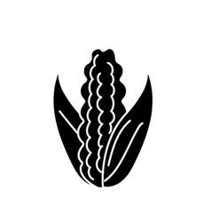 Contour delicious and healthy cob corn food vector