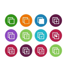 Copy Paste circle icons for Apps Web Pages vector image vector image