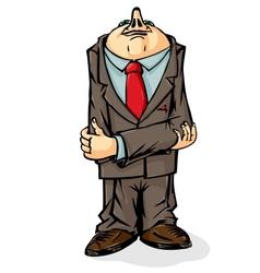 Office worker cowardly hid his head vector