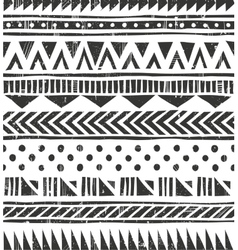 seamless tribal texture Primitive vector image vector image