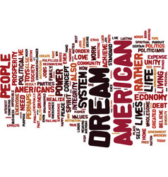 The politics of the american dream text vector