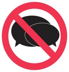 Ban speak sign vector image vector image