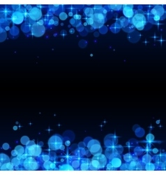 Blue shining bokeh frame abstract background vector image