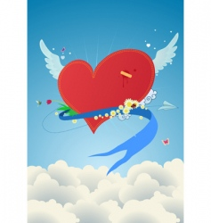 funky heart vector image vector image