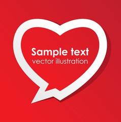 Love valentine speech bubble vector image