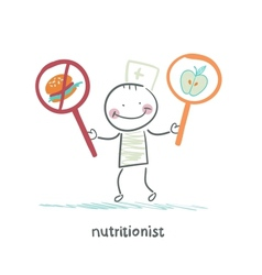 nutritionist promotes healthy food vector image vector image
