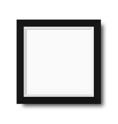 photo frame with black borders wooden photo frame vector image vector image