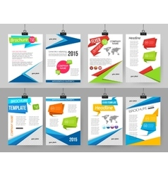 Set of corporate business stationery brochure vector image vector image