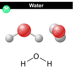 water natural inorganic compound vector image