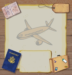 bon voyage party invitation vector image vector image
