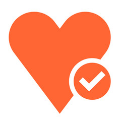 flat heart icon favorite sign liked button vector image vector image