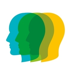 heads profile colorful vector image