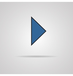 icon Play button web icon with shadow vector image