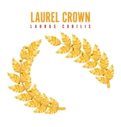 Laurel Crown Greek Wreath With Golden Leaves vector image vector image