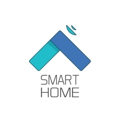 Smart home logo symbol isolated on white vector image vector image