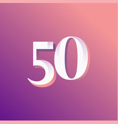 50 years anniversary rainbow number template vector