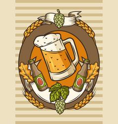 Badge for beer festival or oktoberfest background vector