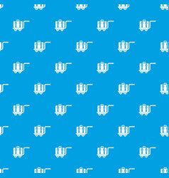 Baggage cart pattern seamless blue vector