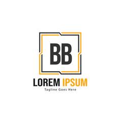 Bb letter logo design creative modern bb letters vector