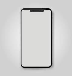 black mobile smart phone mock up game design vector image