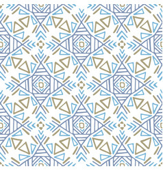 Boho ethnic ornament tribal art print seamless vector