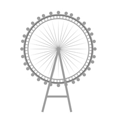British london eye vector