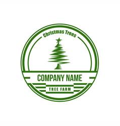 Christmas Tree Farm Logo.Christmas Vintage Tree Farm Vector Images 43