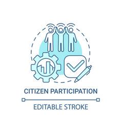 Citizen participation blue concept icon vector
