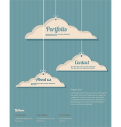 Clouds vebdesign vector
