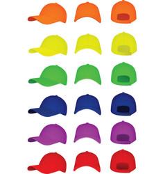 colorful set of baseball cap vector image