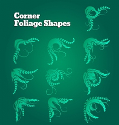 corner foliage shapes vector image