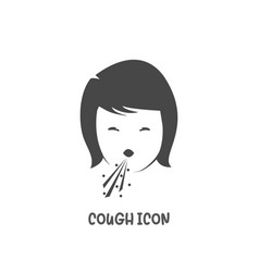 Cough icon simple flat style vector