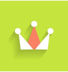 Crown icon modern flat design vector