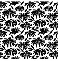 Daisy flower seamless pattern vector
