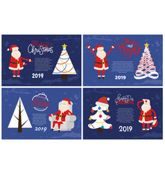 decorated abstract spruces holiday greeting vector image